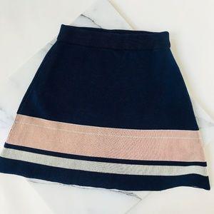 NWOT Topshop A Line Color Block Skater Skirt